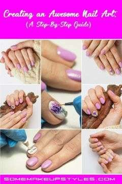 stepbystep guide in applying nail art and finishing it